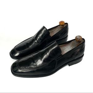 Kenneth Cole Black All Leather Slip On Loafers